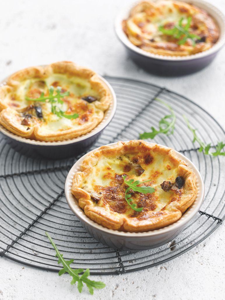 Recept  u0026quot;Quiche met mozzarella en champignons u0026quot;   njam!